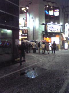 雪の新宿近辺